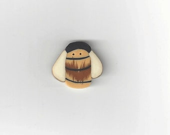 Clearance - Large Country Bee #1173.L from Just Another Button Co.