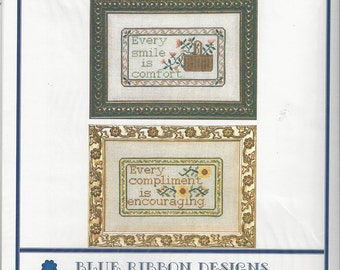 "Clearance-""Comfort & Encouragement"" Counted Cross Stitch by Blue Ribbon Designs"