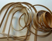 READY TO SHIP - Solid Wood Assorted Basket Handles And Hoops