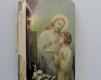 Antique Celluloid Prayer Book - The Little Key Of Heaven: An Ideal Prayer Book - 1937 - Illustrated - Children's Prayer Book