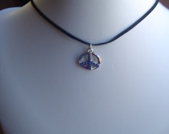 """18"""" Peace sign charm Necklace"""