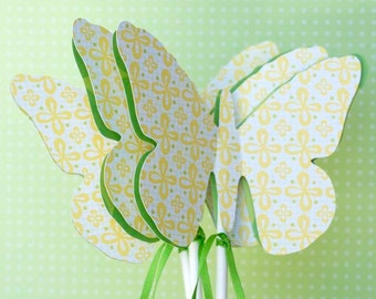 Butterfly Wand Party Favors or Table Decorations