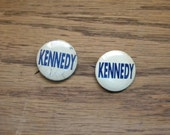Kennedy Campaign Buttons, 2 vintage 1960