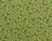 Vintage Floral Fabric, Green Floral Fabric, Cotton Floral Fabric, Vintage Cotton Material, Green Fabric - 1 1/2 Yard - CFL1725