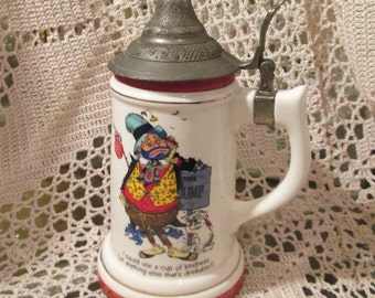 Vintage Happy Hoboes Beer Stein with Music Box, Show Me the Way to Go Home