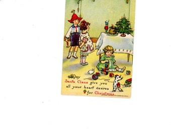 Postcard Christmas Tuck