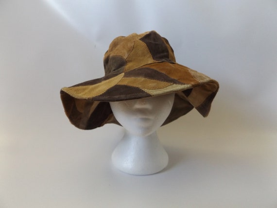 Suede Leather Floppy Pioneer Hat 100