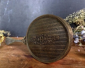 Antique Edwardian Hand Held Mirror