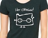 Hey Oregon Womens T shirt - Bella Triblend Scoop Neck -  S,M,L,XL,2XL