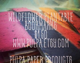 Wildflower Seeded Plantable Bookmark