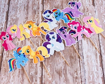 My Little Pony Cupcake Toppers, Set of 12