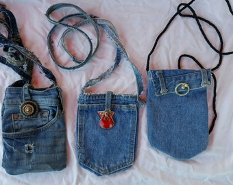 Cell phone tote bag purse denim FREE SHIPPING