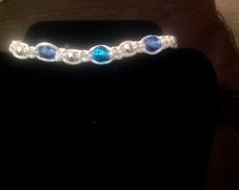 Shades Of Blue Macrame Bracelet