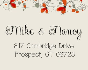 Return address stamp,SELF INKING custom address stamp,personalized stamp,wedding address stamp,S15
