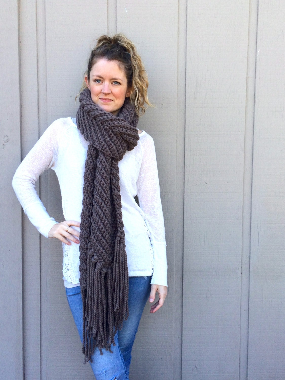 Crochet Shawl Patterns Bulky Yarn : 2 Crochet Patterns: Infinity Scarf cowl super bulky chunky