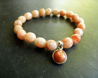 Sonnenstein, orange, jewelry, charm, bracelet, women