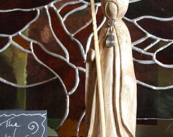 "Hand Carved Wooden 'Spiritual Warrior'  - ""The Watcher at Windy Nook"""