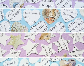 100 x 1 Inch Beatrix Potter Confetti - 4 shape choices - Baby Shower, Birthday Party, Christening - Table Decor