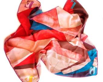 Silk scarf SOLE by Giò Pomodoro // 90s