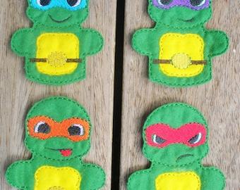 Ninja Turtles Finger Puppet Set