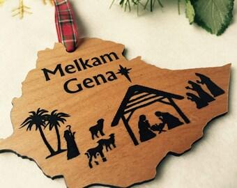 Melkam Gena, Ethiopian Christmas Ornament, Ethiopian Nativity, Habesha, Addis Ababa, Rasta, Gena