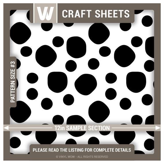 Adhesive Vinyl Craft Sheet Dalmatian Spots Black 27 By