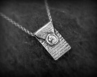 Silver lion wax seal letter pendant, Victorian era by RECREATE4U