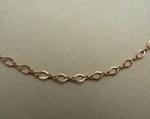 "Ornate Figure 8 Retro style 14K rose gold filled figure 8 chain 18"", 19"" long for pendant"