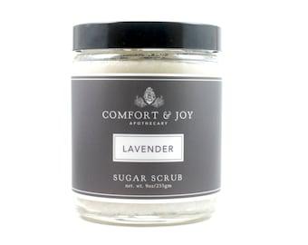 Lavender Sugar Scrub Body Scrub Exfoliate Apothecary Body Polish Green Beauty