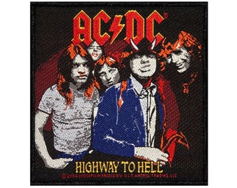 AC/DC ACDC Highway To Hell Album Art Hard Rock Music Woven Sew On Applique Patch