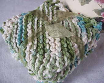 Emerald Isle Twists Dishcloth Set