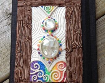 Rainbow zen garden journal cover