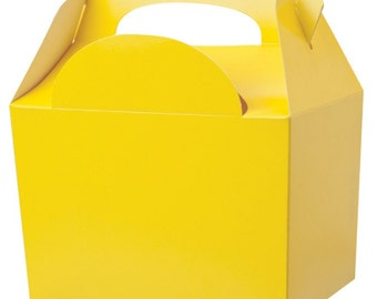 Yellow Gable Party Boxes