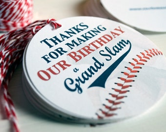 BASEBALL Gift Tags, Baseball Party Favors, Personalized Gift Tags, Baseball Birthday, Twin Birthday, Sports Labels, Our Birthday, Shared