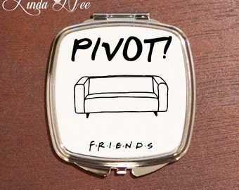 Friends Pivot Compact Mirror, Pocket Mirror, Friends TV Show Compact Mirror, Friends TV Show Makeup Mirror, Friends TV Show Gift Ross XPH8