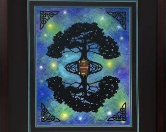 Tree of Life Wall Art, Tree of life wall decor, Tree of life Artist proof 22x26 Framed
