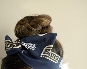 LA Rams, headband, Dolly bow head bands, head band, hair bow