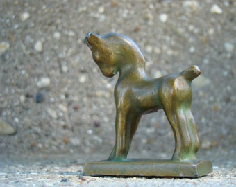 Half Pint Beauty - Vintage 1930s Tiny Unmarked Bronze Plated Metal Horse Statue
