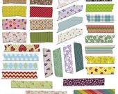 70% Sale Washi Tape colorful - Digital Clipart / Scrapbooking - card design, invitations, stickers, paper crafts, web design - INSTANT DOWNL