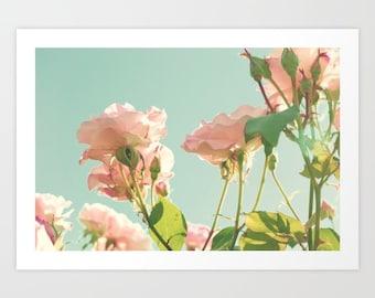 SALE Canvas art, large wall art, blush pink wall art, flower print, wall art canvas, bathroom wall art, rose wall art,nursery decor girl,art