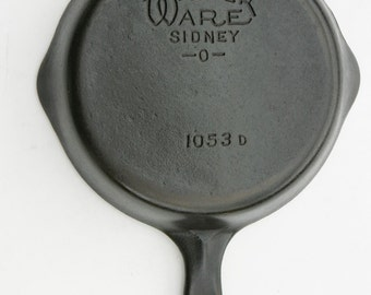 Antique Very Fine WAGNER Ware Sidney Skillet Fry Pan No. 3 Professionally Cleaned, Organic Seasoned Ready to Use