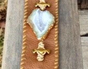 Camel Crystal Druzy heavenly cuff