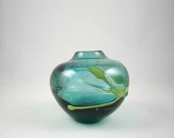 Mid Century Stauffer Studio Art Glass Vase Signed