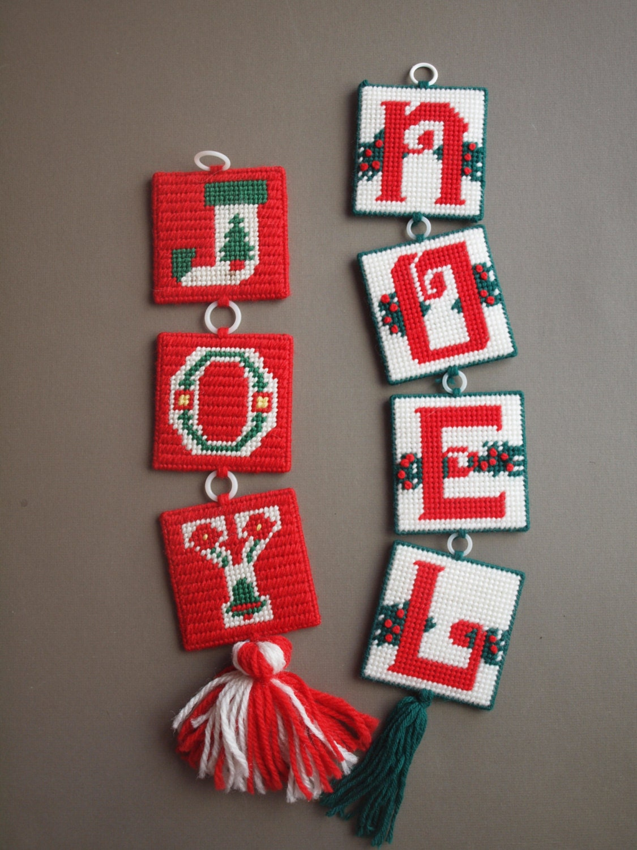 christmas wall hangings noel joy door hanging needlepoint cross stitch traditional whimsical christmas door wreath substitute