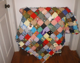 Flannel Backed Warm Baby Quilt #6B