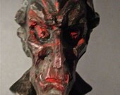 Old Vampire Carving Painted By Artist Dave Archer