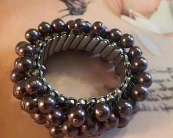Purple Grey Bracelet Cha Cha Mad Men, Stretch Expansion