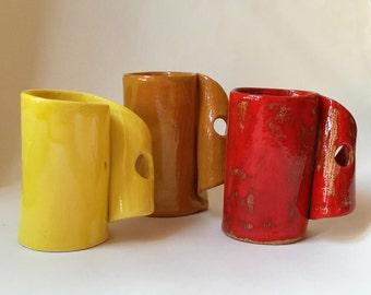 Ceramic red mug