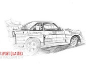 Audi Sport Quattro - Original A3 Pencil Sketch