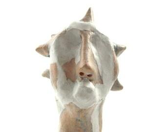 Clay sculpture, desk accessorie, ceramic head, white clay sculpture, head sculpture, art sculpture, pottery sculpture, ceramics, 99heads